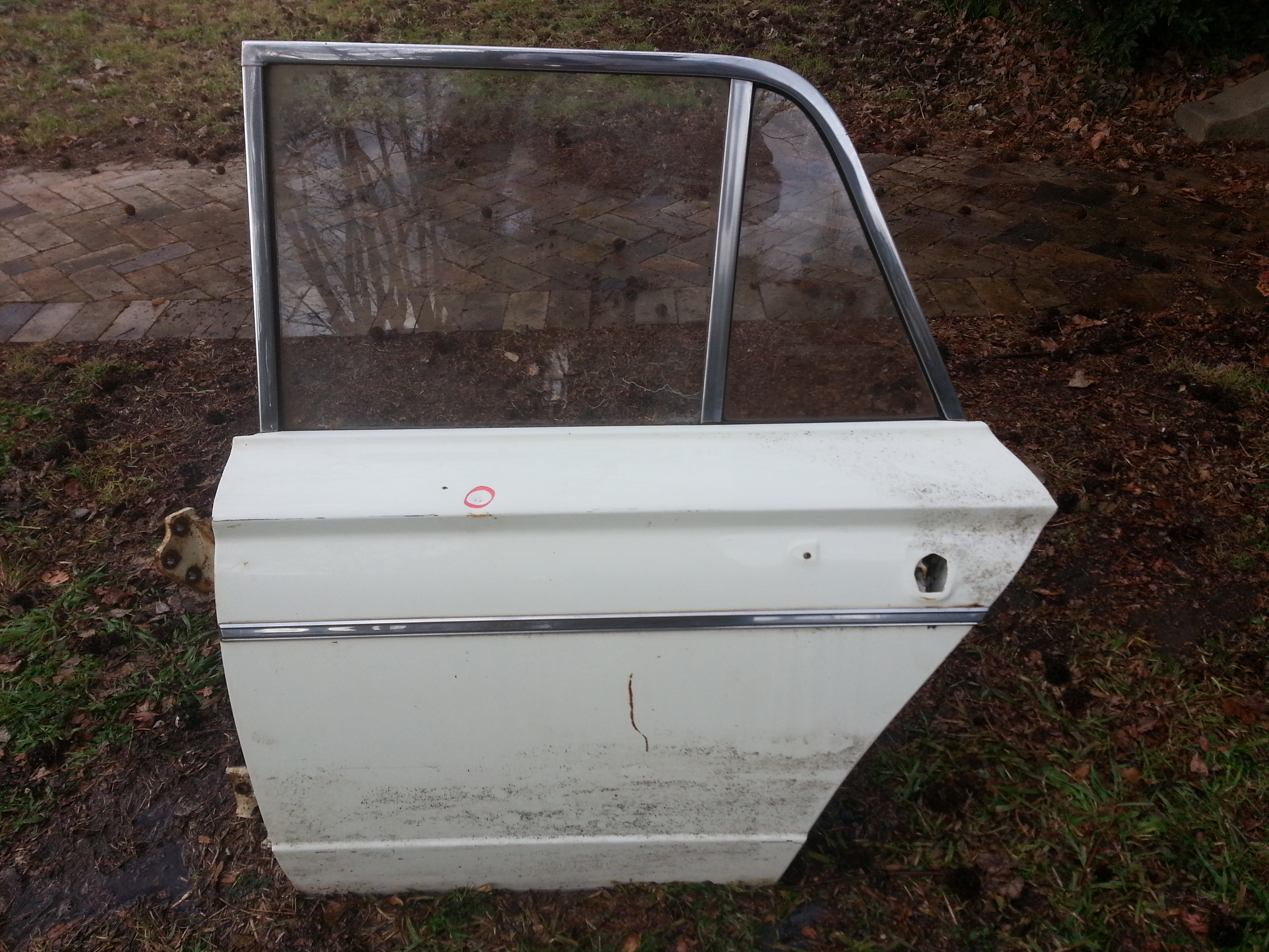 Rear Passenger Door Shell, Salvage