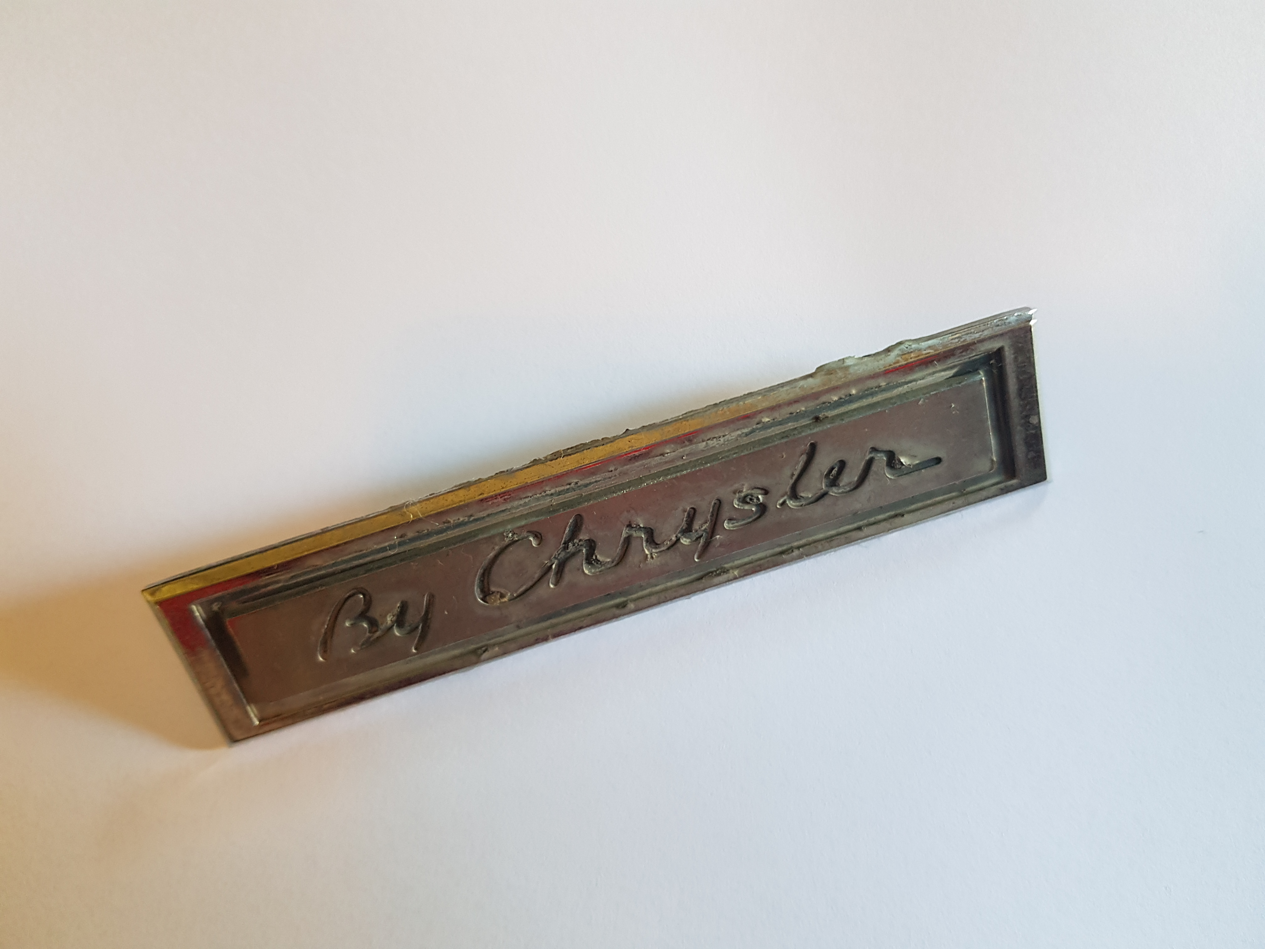 'By Chrysler' Badge, salvaged