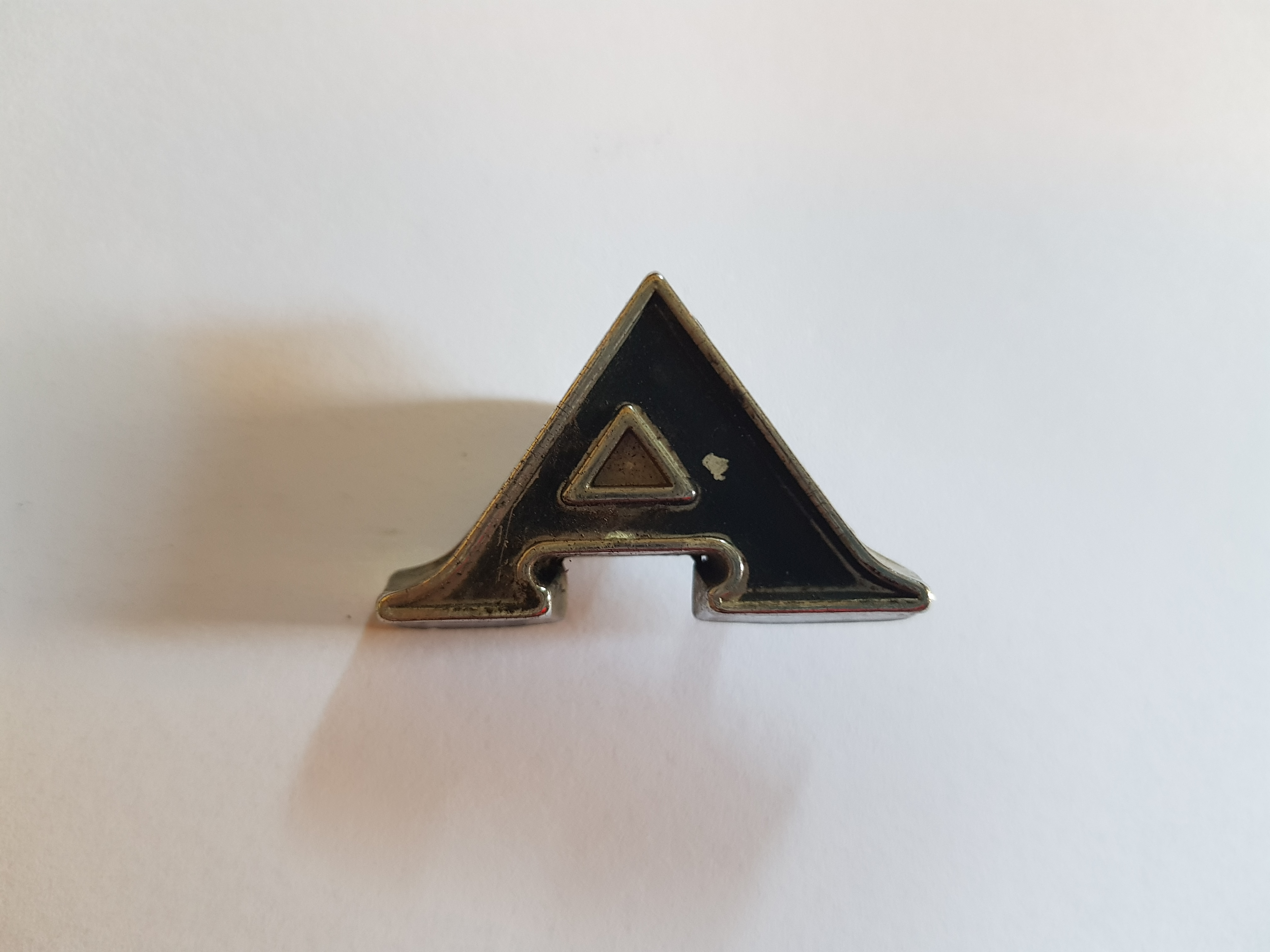'A' Boot Letter Badge, Salvaged