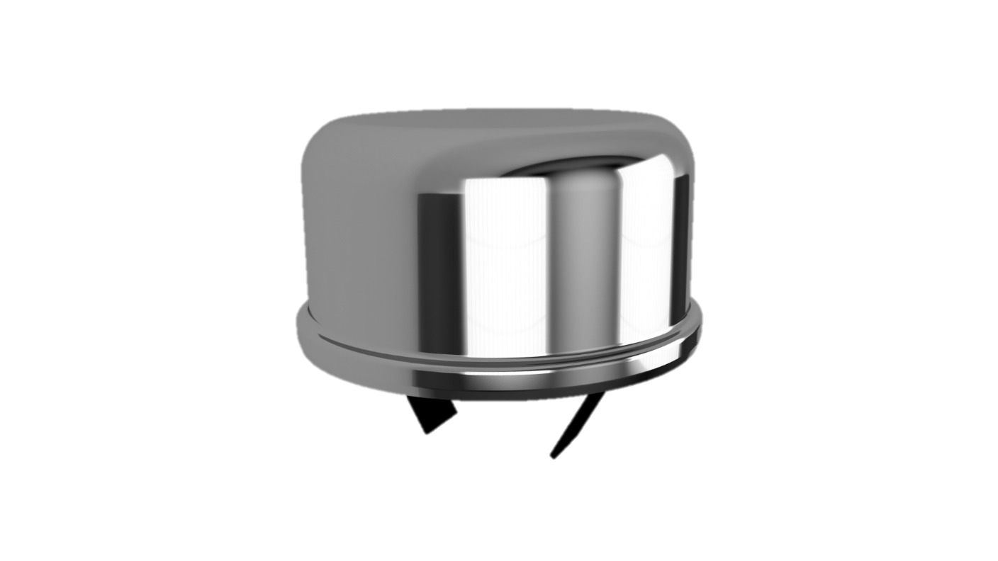 Oil Breather Cap, Slide-On, Chrome Finish
