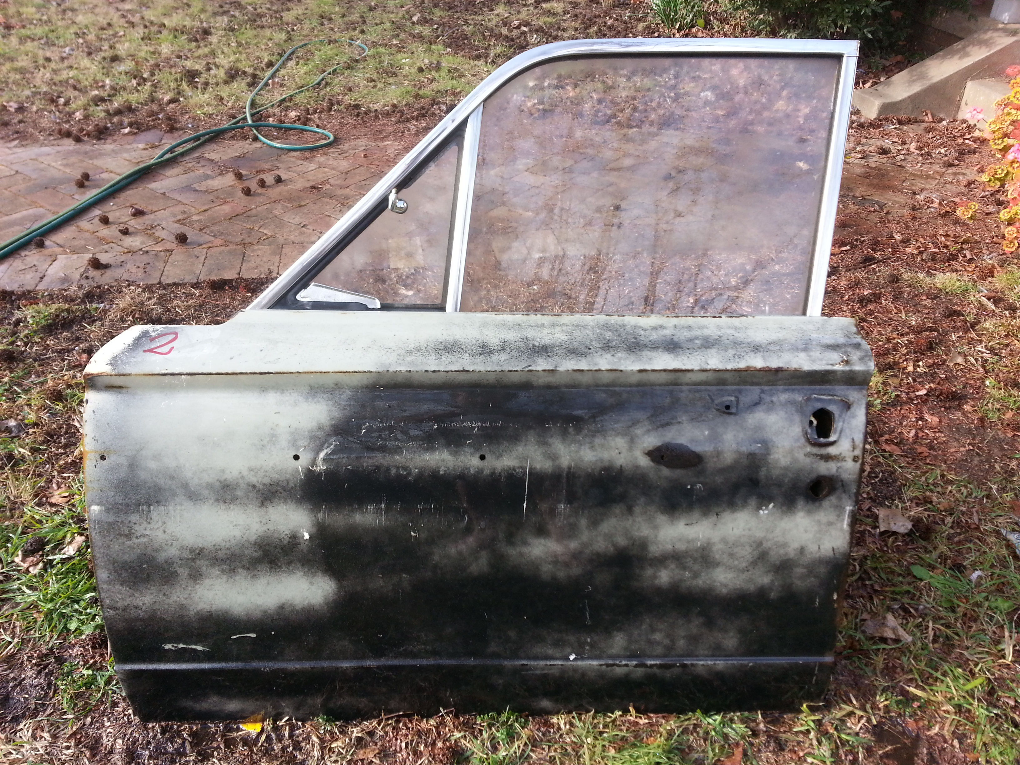 Passenger Side Front Door Shell, Salvage